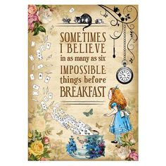 Vintage Style Alice in Wonderland Art Print