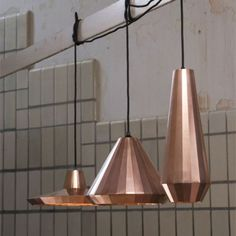even if they look a bit like tom dixon´s, i love these by david derksen
