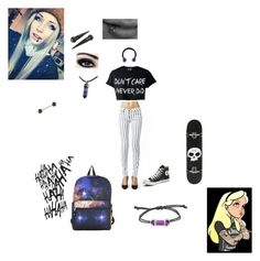 """...."" by sierra-erwin101 on Polyvore featuring Kill City, Converse, Zero, Urbiana and Disney"