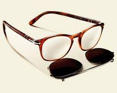 f20a56761e5066 The Persol Clip-On Shades collection, consists of two models of glasses  that come with clip-on shades. The inspired, vintage style, clip-on  sunglasses, ...