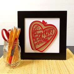 It Takes a Big Heart Wall Art Teacher Gift - create a unique teacher gift they can display all year! Designed by Jen Goode
