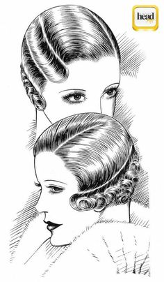 coiffure années 20/30 Coiffures rétro, Coiffure et