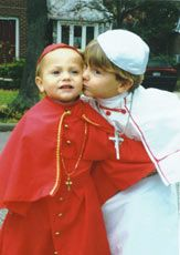 creative Halloween Costume Ideas for children ,for example Pope and Cardinal costume.....