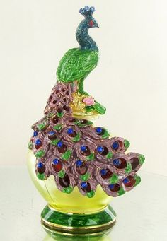 Enameled Handcrafted Perfume Bottle : Lot 1156