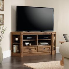 Sauder Palladia Corner Entertainment Credenza TV Stand - 420714, Durable