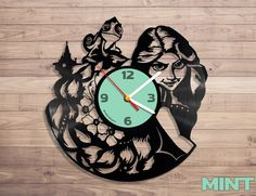 Amazon.com: Rapunzel vinyl record wall clock: Home & Kitchen