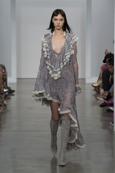 Zimmermann Spring 2017 Ready-to-wear collection Australia designer new york fashion week collection style runway Stranded Ruffle Dress, Lace Up Long Boot