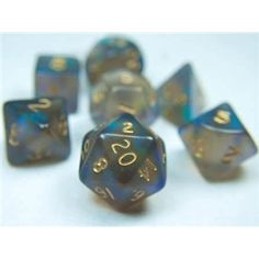 RPG Dice Set (Fire Opal Black) role playing game dice