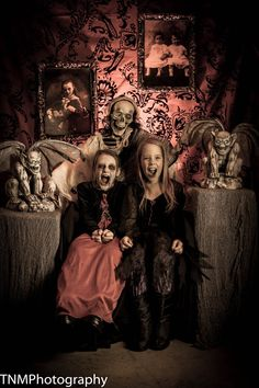 Set up a booth in the garage every Halloween and take photos of the local kids and email to their parents. Lots of fun