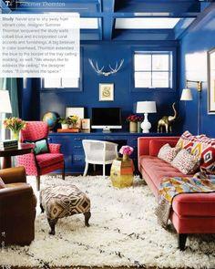 Blue Office, Blue Walls, Color