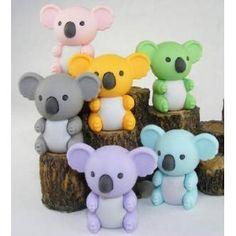 Japanese Iwako Eraser Set - Koala Bear (six colors) by BC USA, http://www.amazon.com/dp/B004J6ASK8/ref=cm_sw_r_pi_dp_YHOVrb04YFYKJ