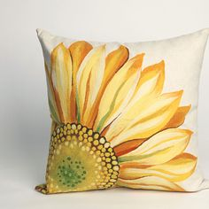 "Buy Sunflower Yellow 20"" Square Indoor Outdoor Pillow by Michael Anthony Furniture on OpenSky"