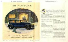 1929 Buick car ad. The Saturday Evening Post.