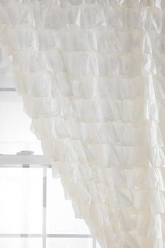 27 Ideas For Shabby Chic Baby Shower Ideas For Girls Ruffled Curtains White Ruffle Shower Curtain, Ruffle Curtains, Cute Curtains, Nursery Curtains, Girl Curtains, Closet Curtains, Striped Curtains, Kitchen Curtains, Eclectic Curtains