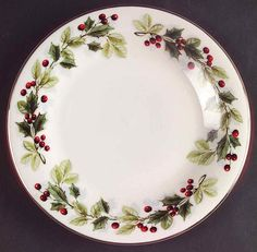 Your Favorite Brands Christmas Dinnerware Overstocks Salad Plate Christmas Dinnerware Sets, Christmas Dinner Plates, Christmas China, Christmas Table Settings, Christmas Table Decorations, Christmas Items, Rustic Christmas, Antique Plates, Lazy Susan