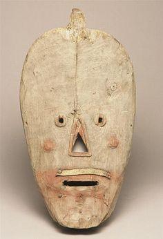 Masque, Archipel de Kodiak, Alaska, collecté en 1871/2 par Alphonse Pinart (1852-1911)