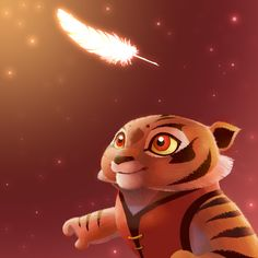 Sweet moment, tigress cub by Rocio-Aj.deviantart.com on @deviantART