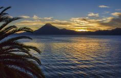 Lake Atitlan Sunset from hecktictravels.com - makes me want to go back to Guatemala!