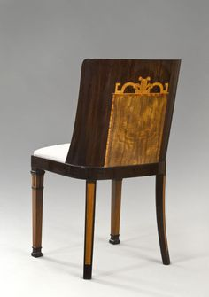 Goncalo Alves & Birch Chair Attributed to Carl Bergsten
