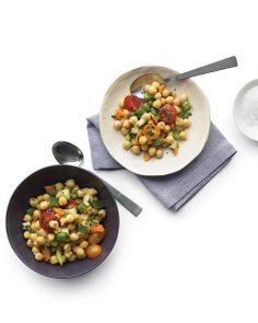Mediterranean Chickpea Salad - Whole Living Eat Well. i love chickpeas!
