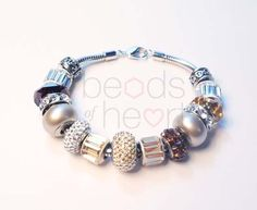 Brunonia charm bracelet Product code BC1017 by BeadsofHeart