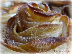 Rosas de hojaldre y manzana con thermomix