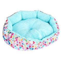 wowowoTM Cute Fashion Soft Warm Bed for Pet Dog Cat Mat Removable and DoubleSided Available Cotton Blue Medium >>> Click on the image for additional details.