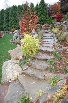 got hill no problem, outdoor living, patio, ponds water features, stone steppers