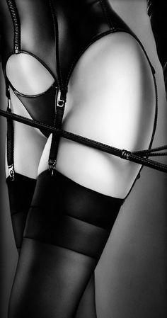 Dominatrix Style Garter Belt & Lingerie