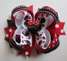 MINNIE MOUSE hair bow headband BIG Boutique Disney Red Black resin Cici's #Cicis