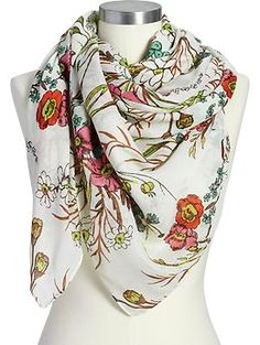 Women's Floral Gauze Scarves | Old Navy