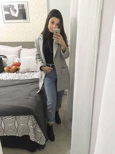 How To Wear Boyfriend Jeans Ideas Super Ideas Blazer Outfits Casual, Blazer Fashion, Denim Outfit, Women's Dresses, Girl Fashion, Fashion Looks, Fashion Hair, Womens Fashion, Fashion Outfits