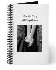 Personalized Wedding Planner Notebook . Your photos and words will be added to this notebook. It is perfect for keeping track of the plans for your big day. by Keepsakes By Katherine