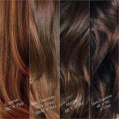 Image result for dark brunette hair color formulas Milk Chocolate Hair, Chocolate Brown Hair Color, Mocha Brown Hair, Chocolate Brunette Hair, Chestnut Brown Hair, Ash Brown, Carmel Brown Hair Color, Brown Hair Colors, Mocha Hair Colors