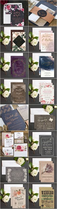 The most unique wedding invitation designs from Elli. Click to see more details.
