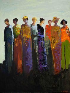 """""""Sisterhood"""" by Shelby McQuilkin 40 x 30 x 1"""