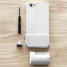Snap! Basic Photo Case - White - for iPhone 6 by bitplay #MONOQI