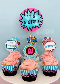 Supergirl / Superboy Baby Shower via Kara's Party Ideas Superhero Baby Shower, Baby Girl Shower Themes, Baby Shower Cards, Superhero Party, Shower Party, Baby Shower Parties, Shower Cake, Welcome Baby Banner, Birthday Cakes For Women