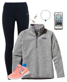 """""""3 Hour Car Trip Starts... Now"""" by kat-attack ❤ liked on Polyvore featuring NIKE, Patagonia, J.Crew, Everest, LifeProof, women's clothing, women's fashion, women, female and woman"""