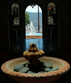 Have a great weekend & check out our new site www.furstcastle.com #fountain #interior #filmlocation #eventvenue #LosAngeles #California #StainedGlass #setlife