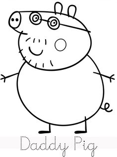 peppa pig Printable Peppa Pig Coloring Pages. Have a Joy with Peppa Pig Coloring Pages. Do your children like to color pictures? If they do, the Peppa pig coloring pages can be the right cho Peppa Pig Coloring Pages, Family Coloring Pages, Birthday Coloring Pages, Valentine Coloring Pages, Cartoon Coloring Pages, Free Coloring Pages, Free Printable Coloring Pages, Peppa Pig Familie, Peppa Pig Pictures