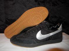 VTG OG Nike Dasher 1982 Soccer Shoes Black/Silver Size 14 DeadStock NOS original #Nike #AthleticSneakers