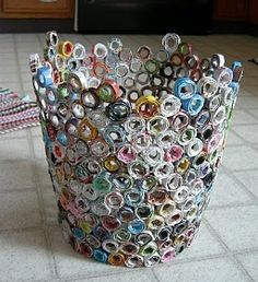 A garbage can made from garbage. How poetic. - HOME SWEET HOME