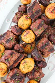 Steak, Mushroom and Potato Kebabs | Olga's Flavor Factory