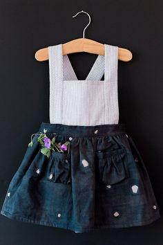 2e017e585b92 Ayla Pinafore Dress - Vintage Girls Dress- 2T