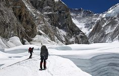 Walking the cwm - Everest