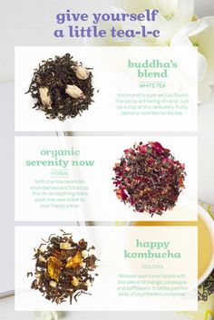 Give yourself a little tea-l-c with these soothing blends!