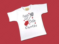 Boys Valentine Day Cupid's Lil Cutie Shirt with by SunbeamRoad, $22.50