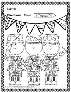 Free Memorial Day Coloring Page and Thank You Notes | Pinterest ...