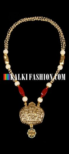 Buy Online from the link below. We ship worldwide (Free Shipping over US$100) http://www.kalkifashion.com/ram-darbar-temple-necklace.html Ram darbar temple necklace